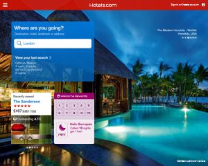 Hotels.com iPad app