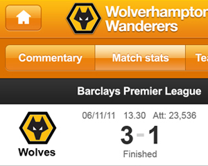 Football league iPhone app