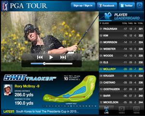 PGA golf Live iPad app pitch