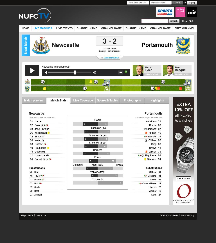 JVTV_Newcastle_live_matches_stats